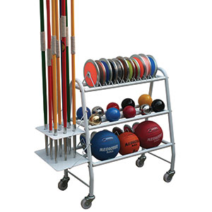 ATHLETICS EQUIPMENT TROLLEY WITH WHEELS