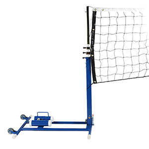 COMBINATION FOLDING POSTS FOR VOLLEYBALL, NETBALL AND BADMINTON