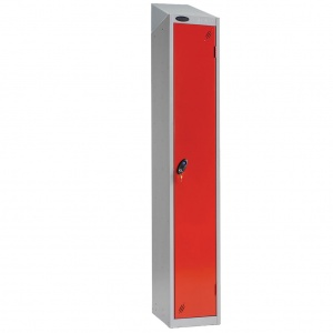 LOCKER WITH SLOPING TOP