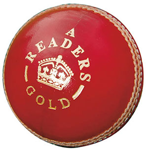 READERS GOLD ''A'' LEATHER CRICKET BALL