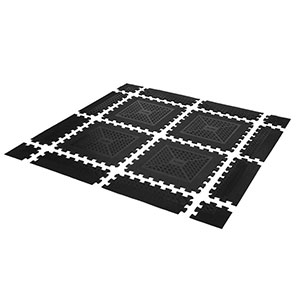 EASY-LOCK FREEWEIGHT FLOORING RUBBER TILE