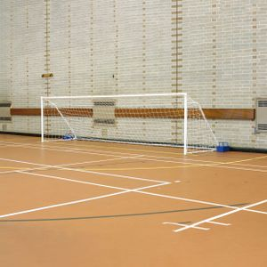 FS1 FOLD-AWAY STEEL 5-A-SIDE FOOTBALL GOAL, PAIR
