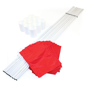 HOLE CUPS, FLAGS AND STAFFS SET