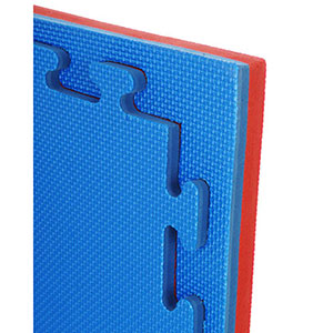INTERLOCKING EVA JIGSAW MAT BE/RD REVERSIBLE STD FINISH