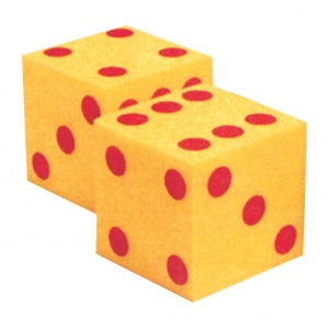 GIANT SOFT DICE, DOT DICE