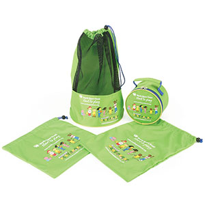 FIZZ AND FRIENDS DRAWSTRING BAG