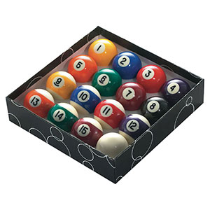 POOL BALLS 1 7/8'' NUMBERED