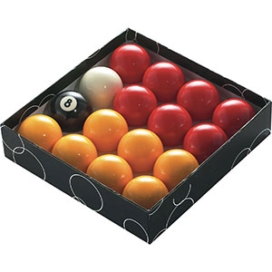 POOL BALLS 2 1/4'' NUMBERED