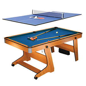 BCE FOLDING POOL TABLE WITH TABLE TENNIS TOP