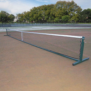 76MM FREESTANDING TENNIS POSTS WITH WHEELS (PAIR)