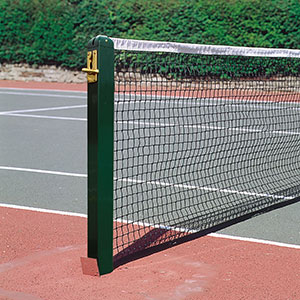 ALUMINIUM 80MM SQUARE TENNIS POSTS WITH SOCKETS (PAIR)