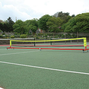 WHEELAWAY MINI TENNIS POSTS (NET AND POSTS)