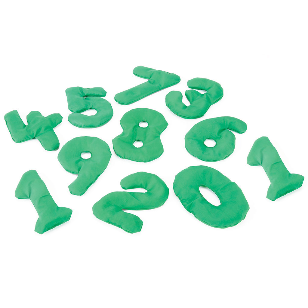 NUMBER SHAPE BEAN  BAGS SET OF 0 - 10