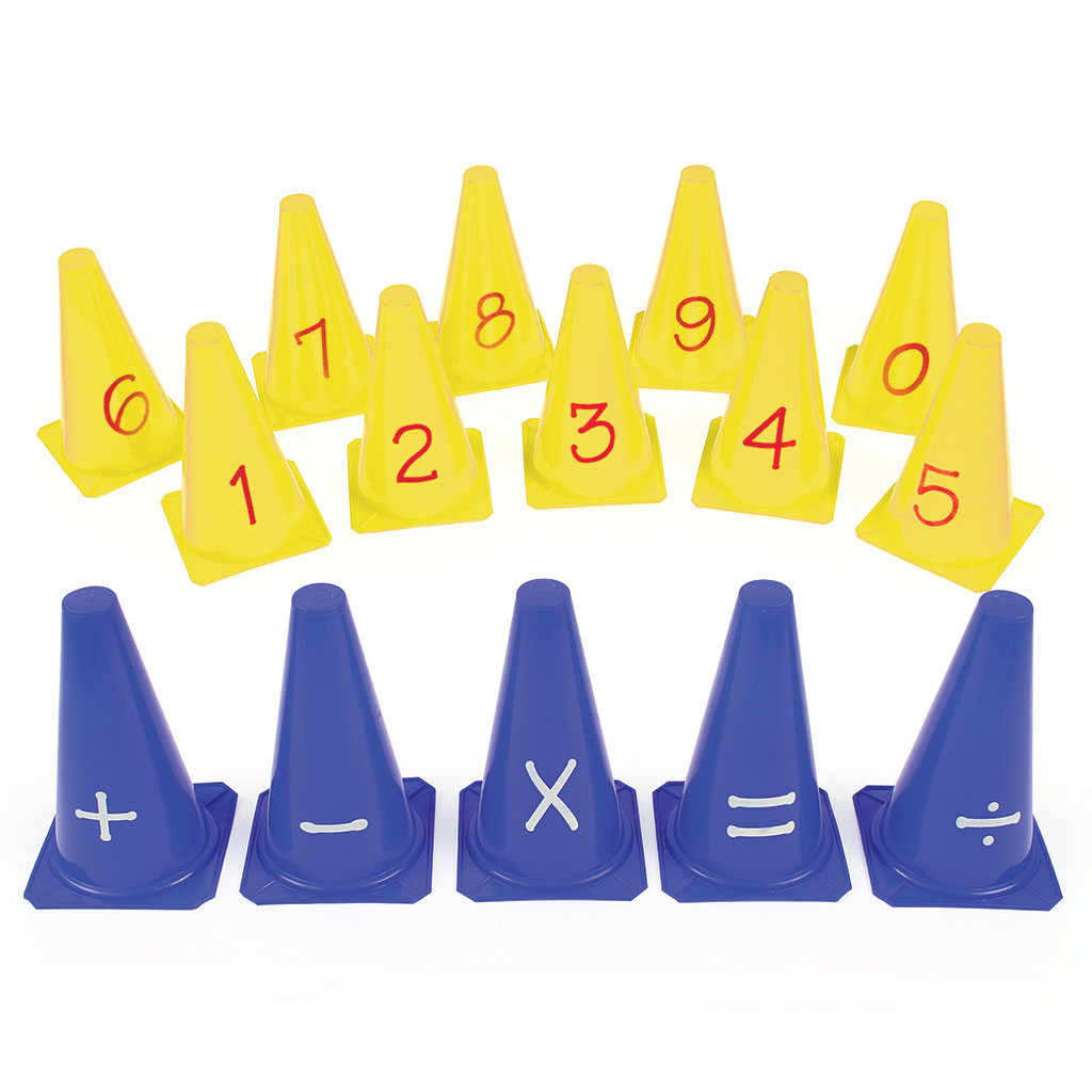 NUMBER AND SYMBOL CONES SET