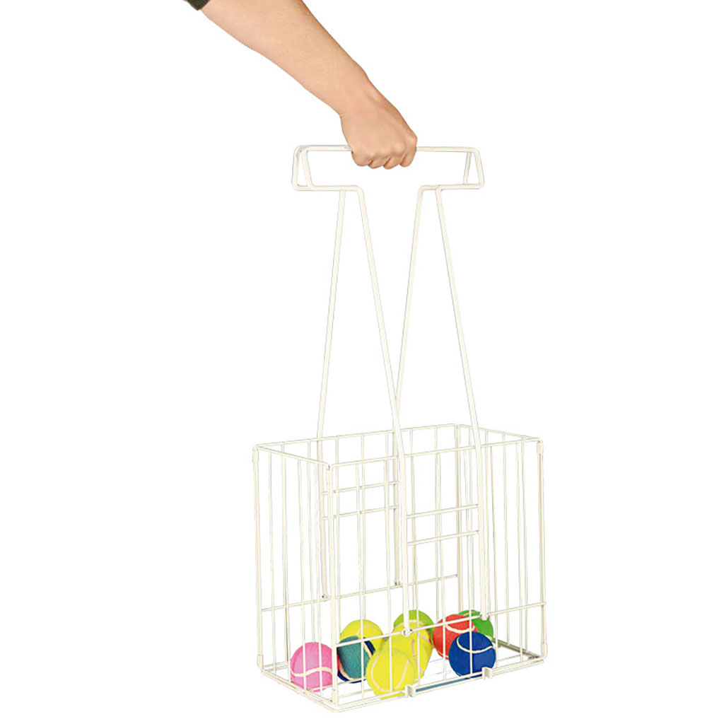 TENNIS BALL RETRIEVER BASKET POWDER COATED LIGHTWEIGHT