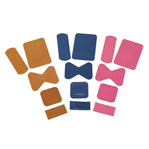 ASSORTED FABRIC STERILE PLASTERS