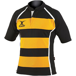GILBERT XACT RUGBY MATCH SHIRT HOOPED