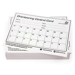 BRITISH ORIENTEERING SCHOOL CONTROL CARDS