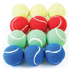 COLOURED TENNIS STYLE BALL