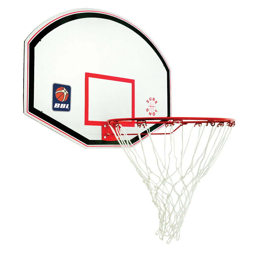 SURE SHOT 521 JUNIOR BASKETBALL BACKBOARD C/W RING