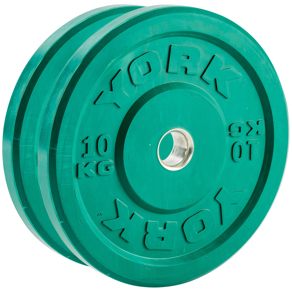 YORK COLOURED OLYMPIC BUMPER PLATES