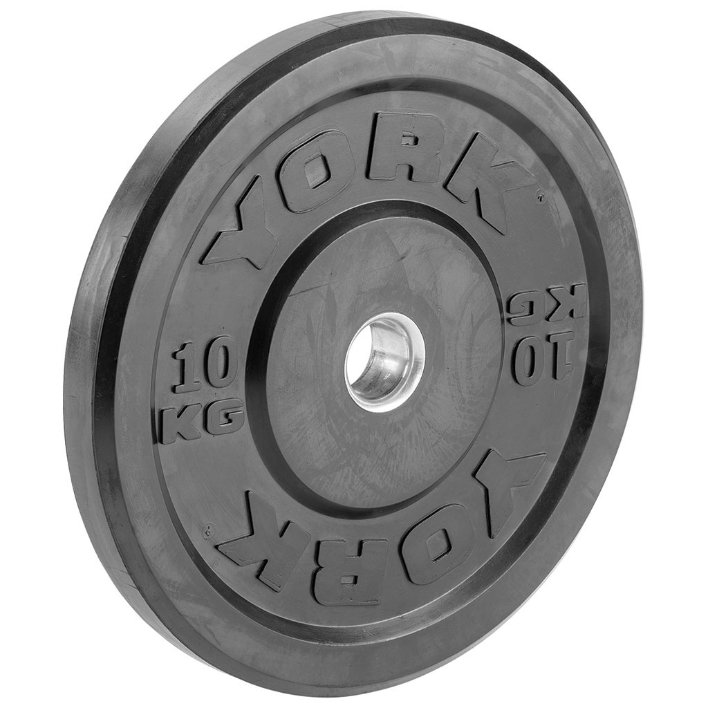 YORK BLACK OLYMPIC BUMPER PLATE