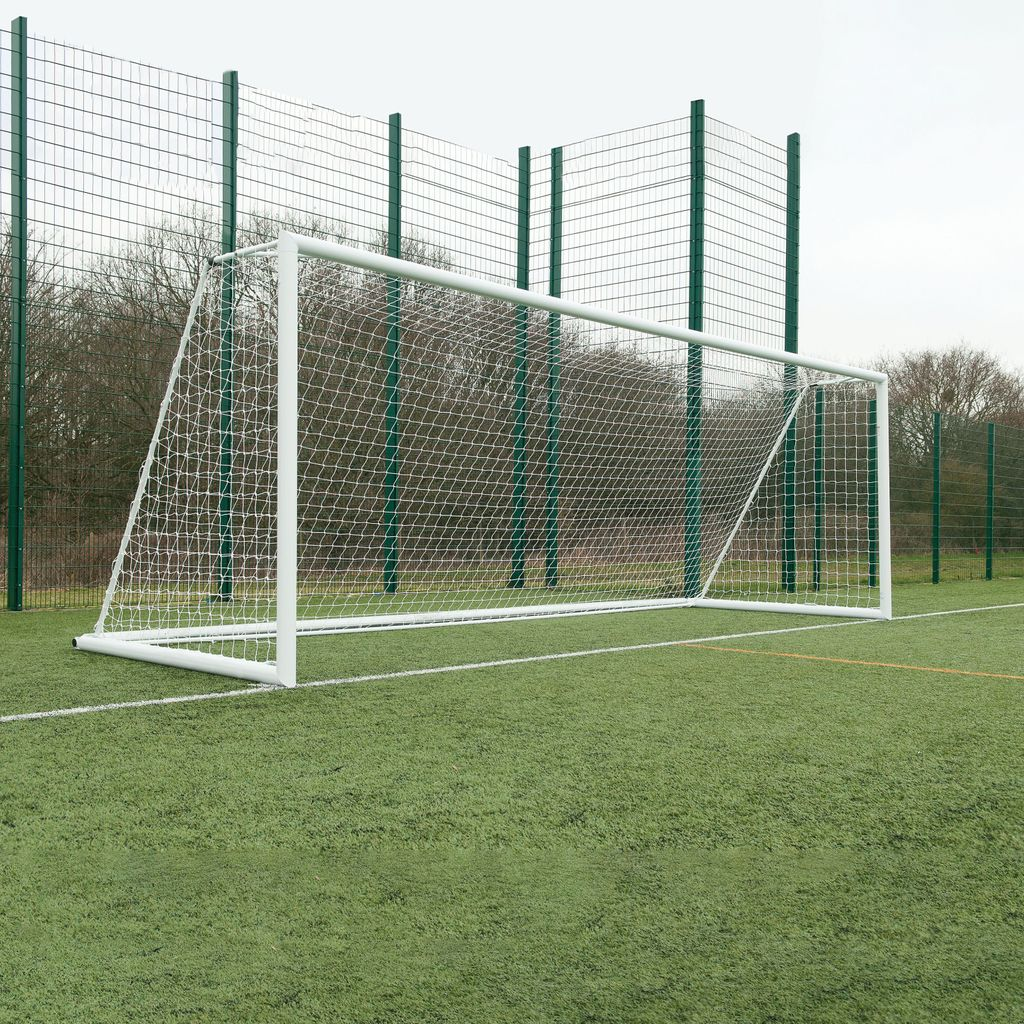 3G 'ORIGINAL' ALUMINIUM INTEGRAL WEIGHTED FOOTBALL GOAL, PAIR
