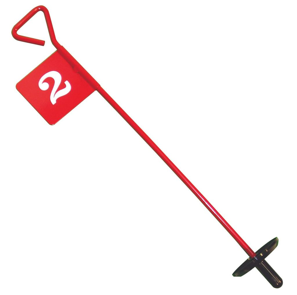 BACK SAVER TYPE METAL GOLF FLAGS NUMBERED