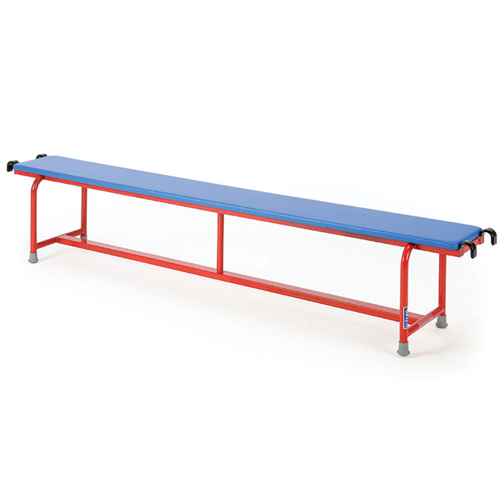 STEEL BENCH WITH UPHOLSTERED TOP
