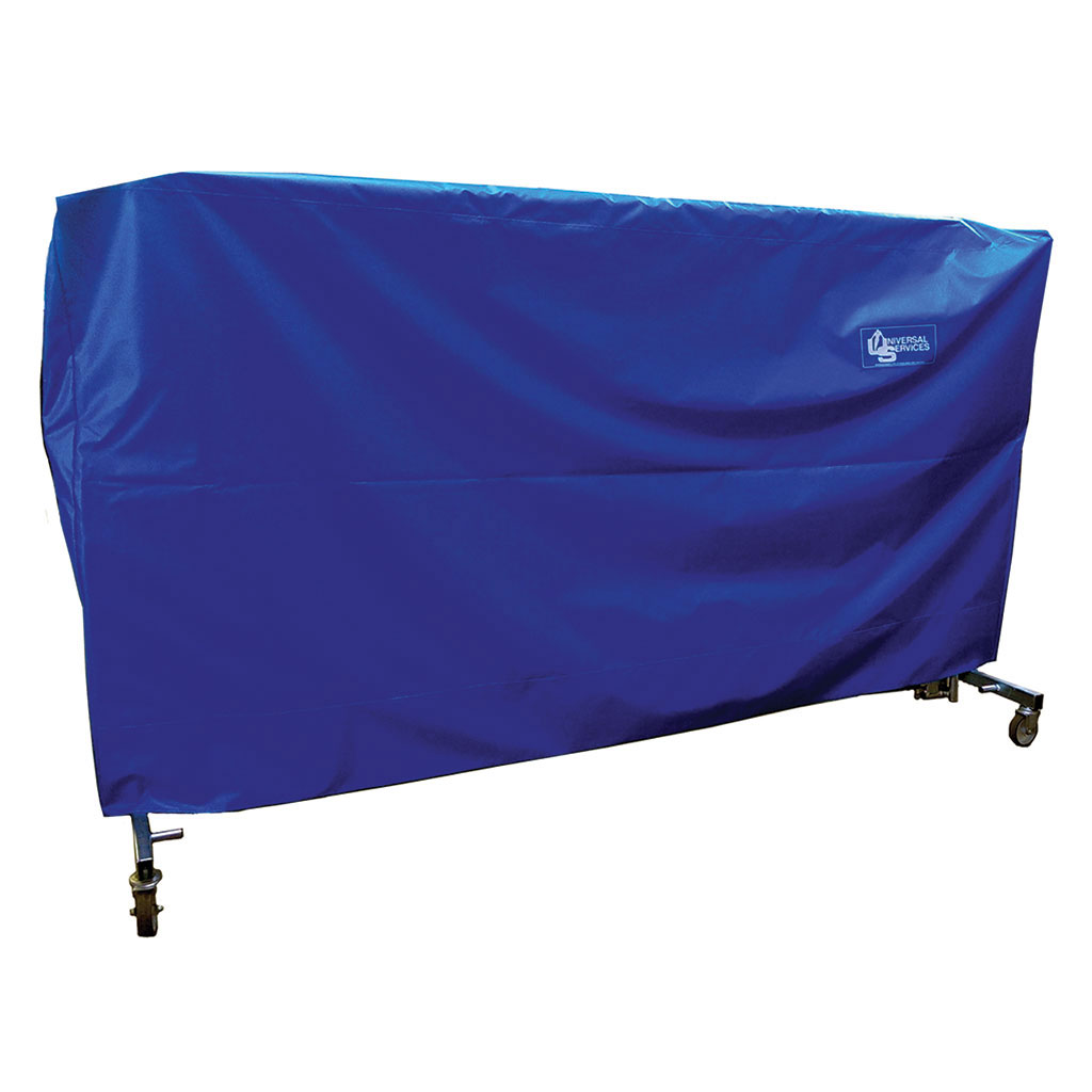 TRAMPOLINE COVER MODEL GM, LIFT/LOWER ROLLER STANDS