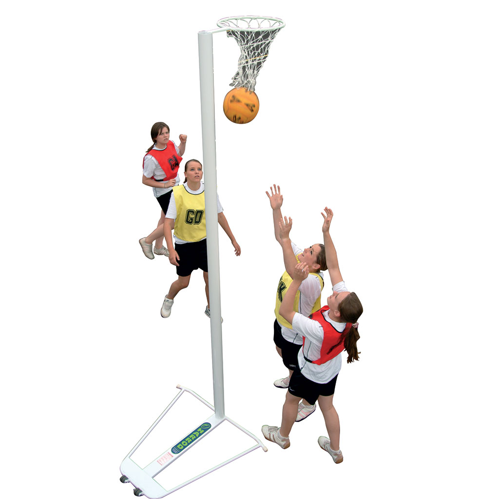 FREESTANDING WHEELAWAY COMPETITION NETBALL POSTS