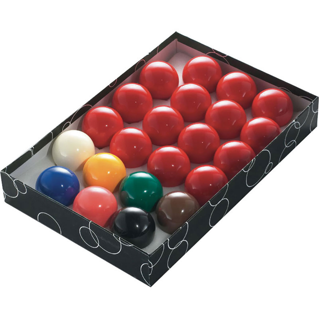 SNOOKER/BILLIARD BALLS 2 1/16'' X 22 BALLS