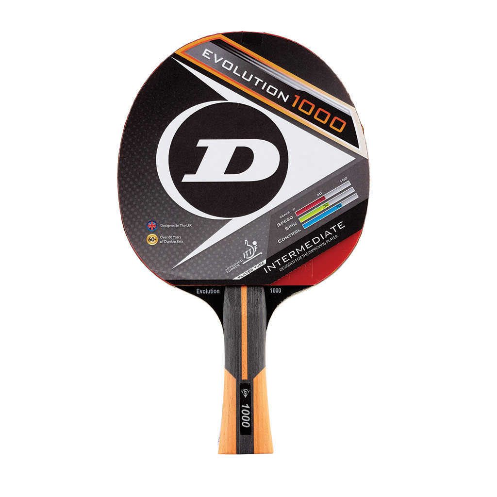 DUNLOP EVOLUTION 1000 TABLE TENNIS BAT